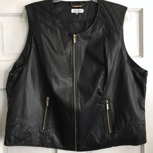 Calvin Klein Jackets & Coats - CALVIN KLEIN Faux Leather Vest